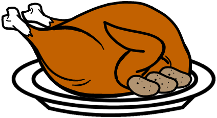 Cartoon cooked turkey cbra clipart