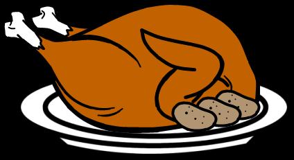 Cartoon cooked turkey cbra clipart