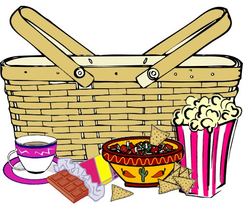 Cartoon picnic basket clipart