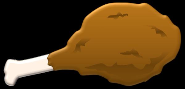 Chicken wing cartoon clipart