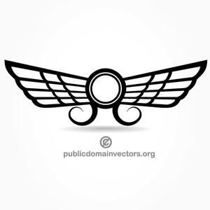 Chicken wing clipart pilot wings vectors