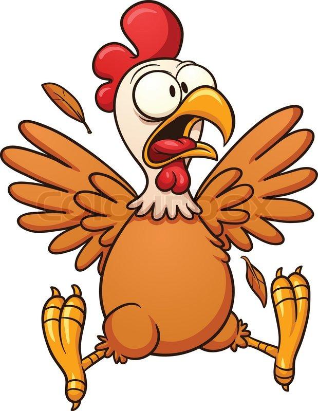 Chicken wing crazy checken clipart