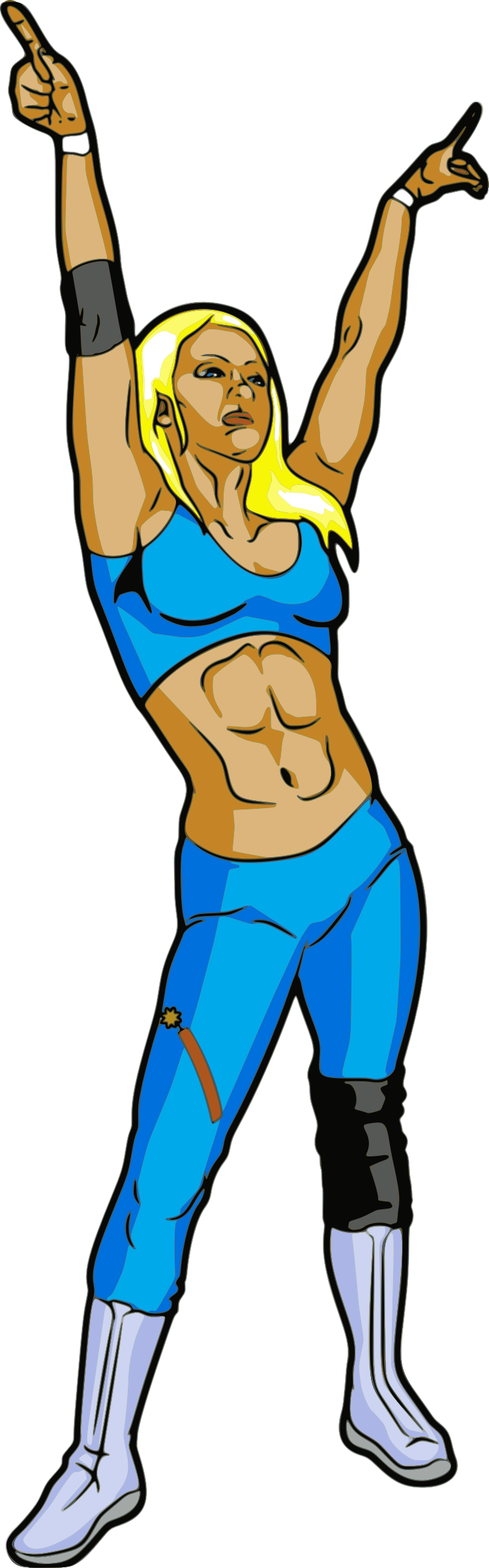 Clipart female professional wrestler