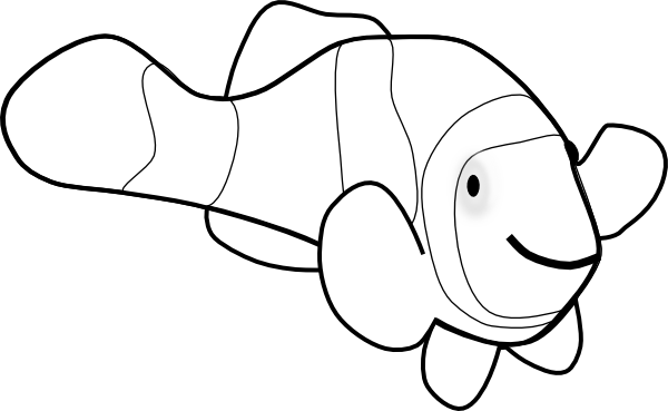 Clownfish clown fish outline clip art at vector clip art
