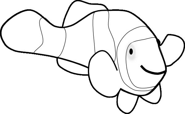 Clownfish clown fish outline clip art at vector clip art