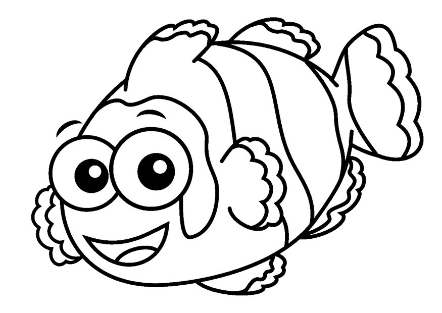 Clownfish clown fish outline clipart 2