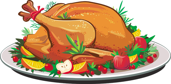 Cooked turkey clipart 3