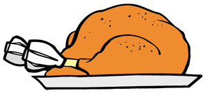 Cooked turkey clipart 7