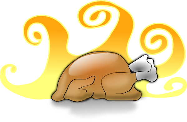Cooked turkey clipart 9
