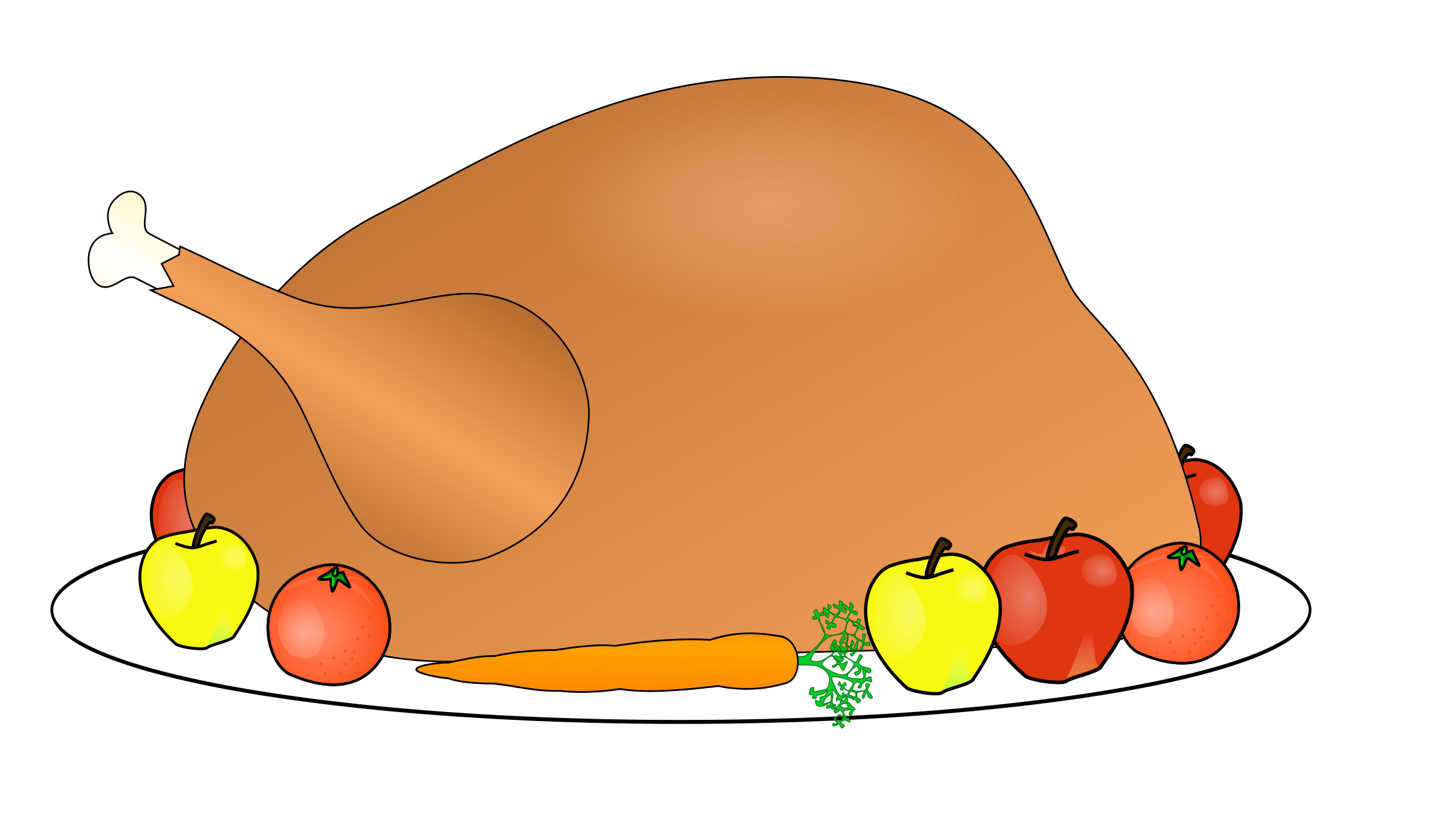 Cooked turkey leg clipart