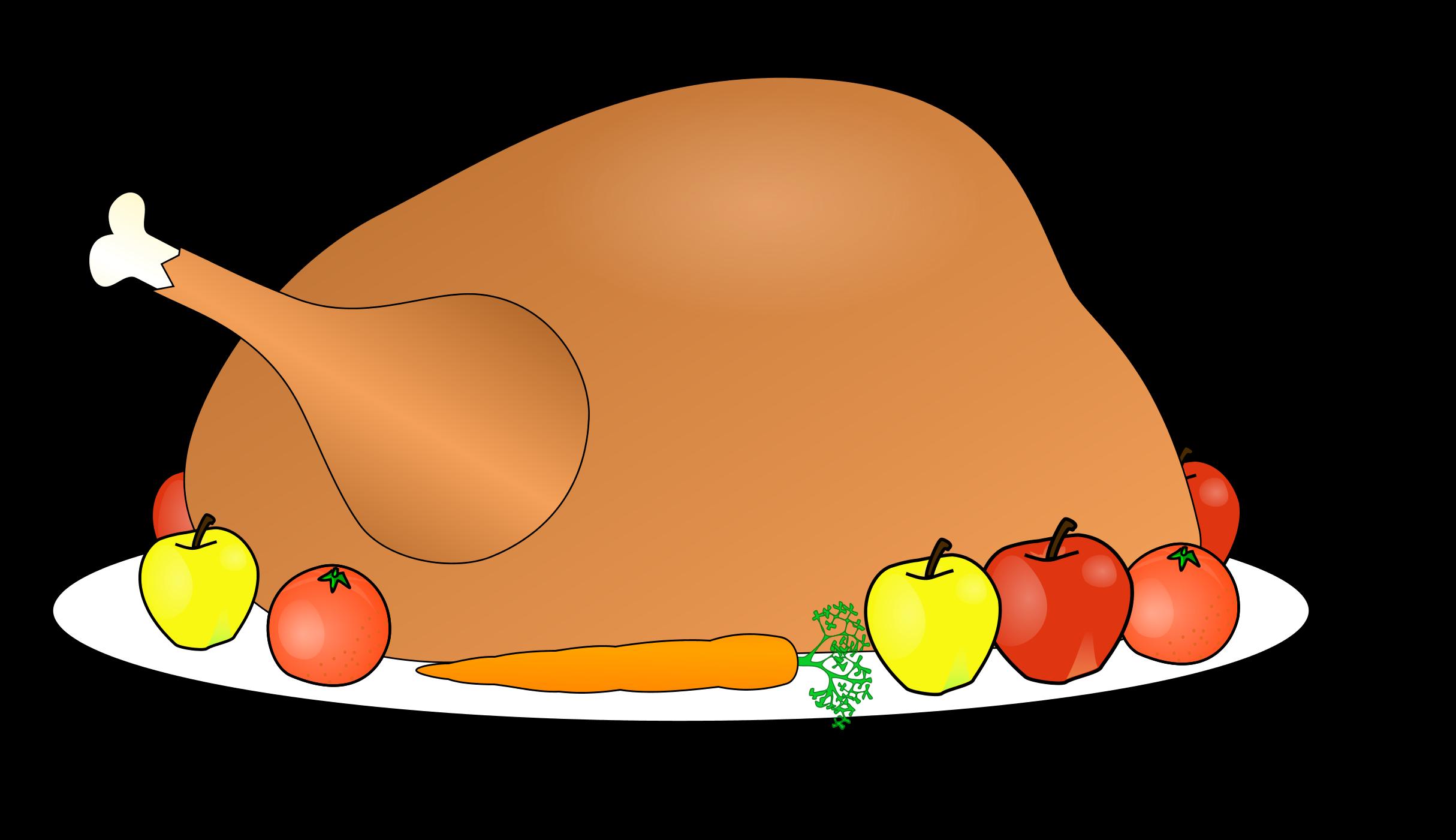 Cooked turkey leg clipart