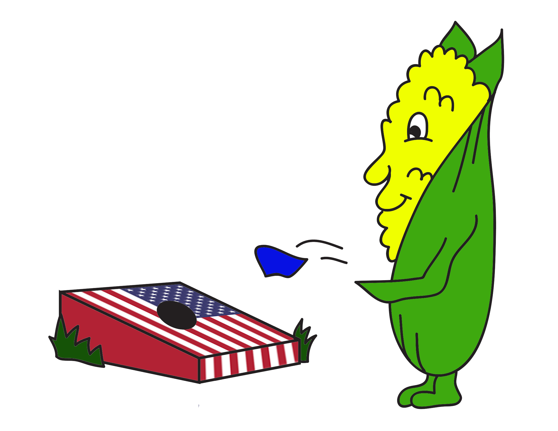 Cornhole about all american liberty leagues clip art