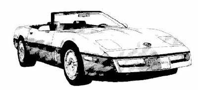 Corvette clipart 10