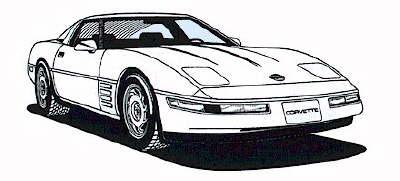 Corvette clipart 2
