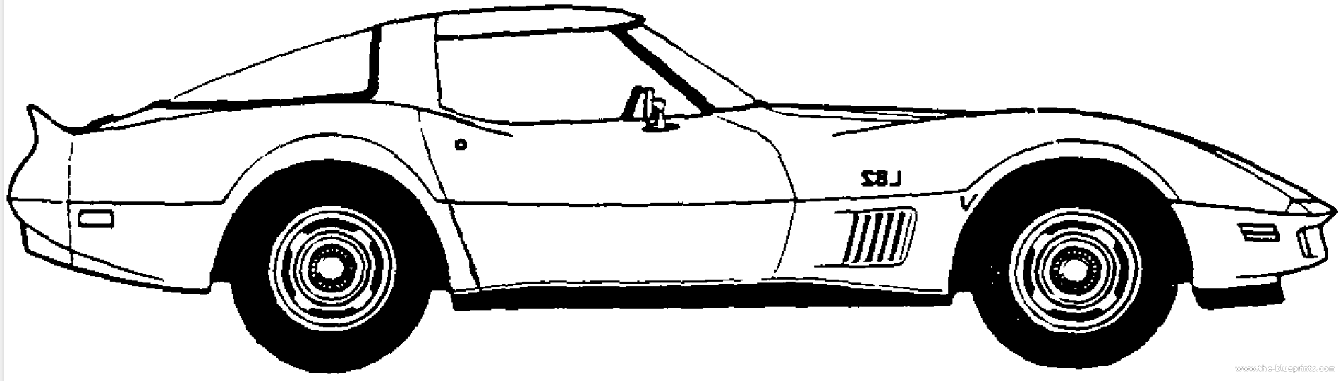 Corvette clipart 3