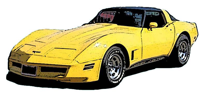 Corvette clipart 4
