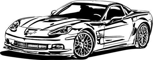 Corvette clipart 5