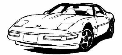 Corvette clipart 6