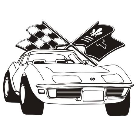 Corvette clipart 7
