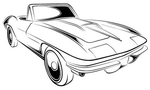 Corvette free clip art