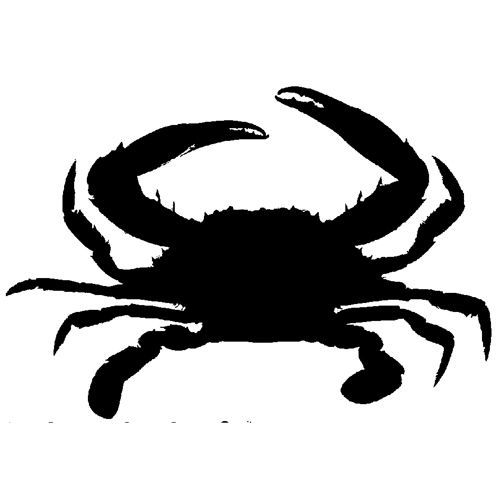 Crab  black and white crab clipart silhouette clipartfest