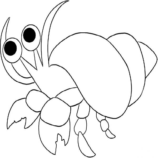 Crab  black and white hermit crab clipart black and white clipartfest 2