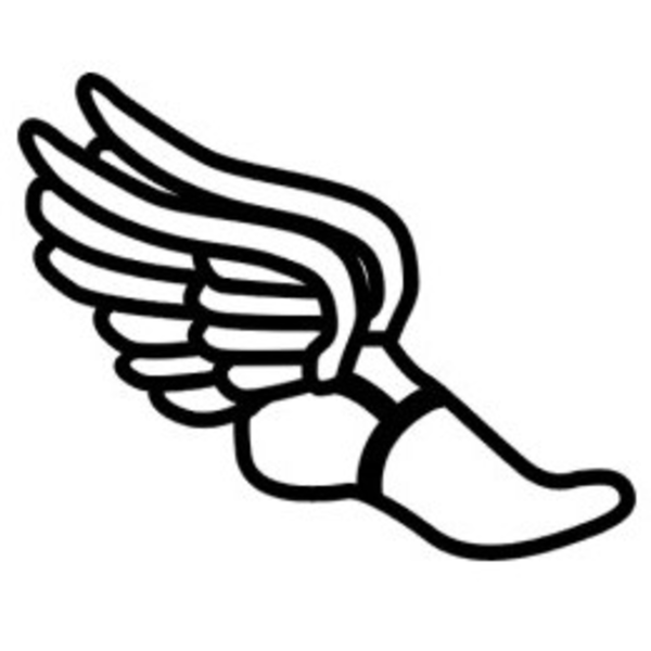 Cross country running shoes clipart