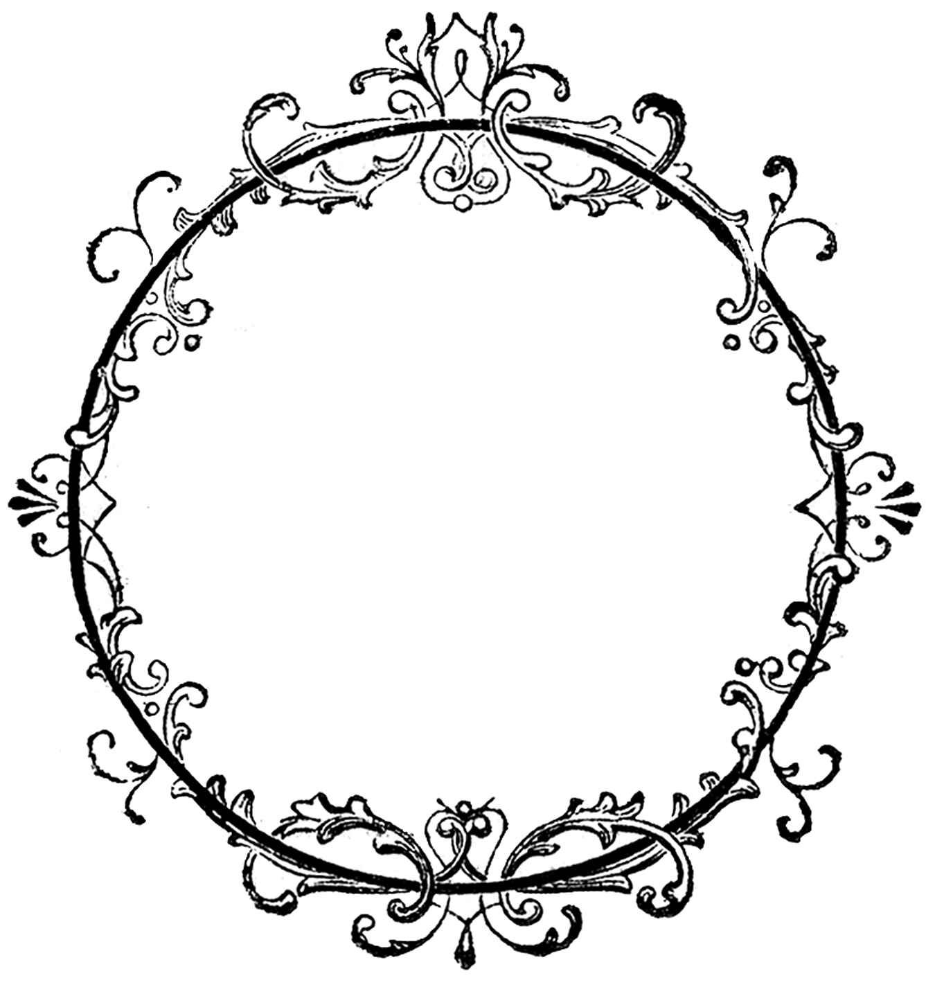 Fancy blue scroll clip art free clipart images