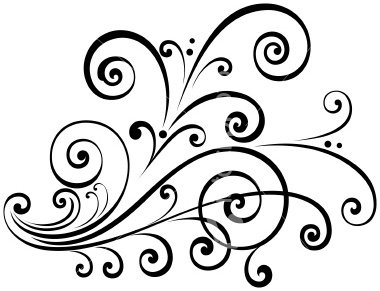 Fancy scroll clip art free clipart images 2