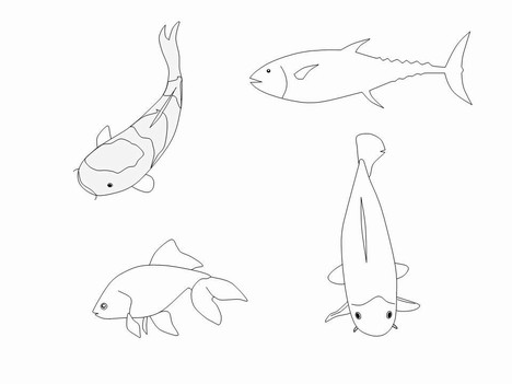 Fish outline clip art 10