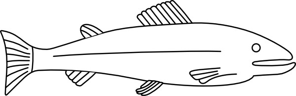 Fish outline clip art 2
