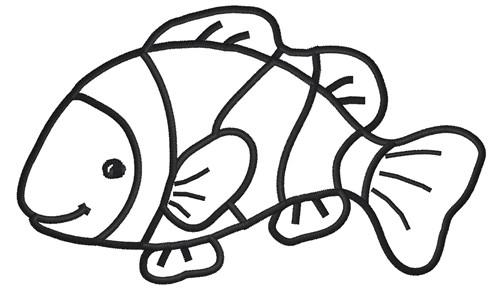 Fish outline clip art 5
