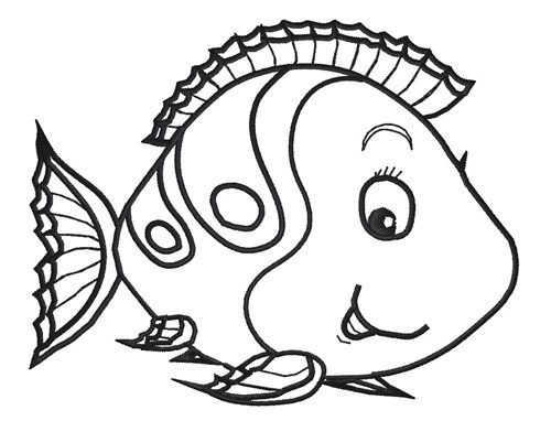 Fish outline clip art 6
