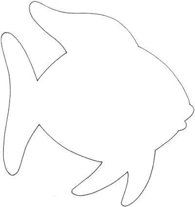 fish outline clipart 4