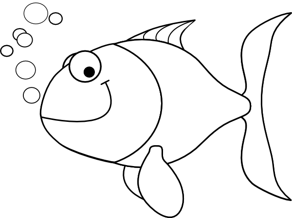 Fish outline clipart 6