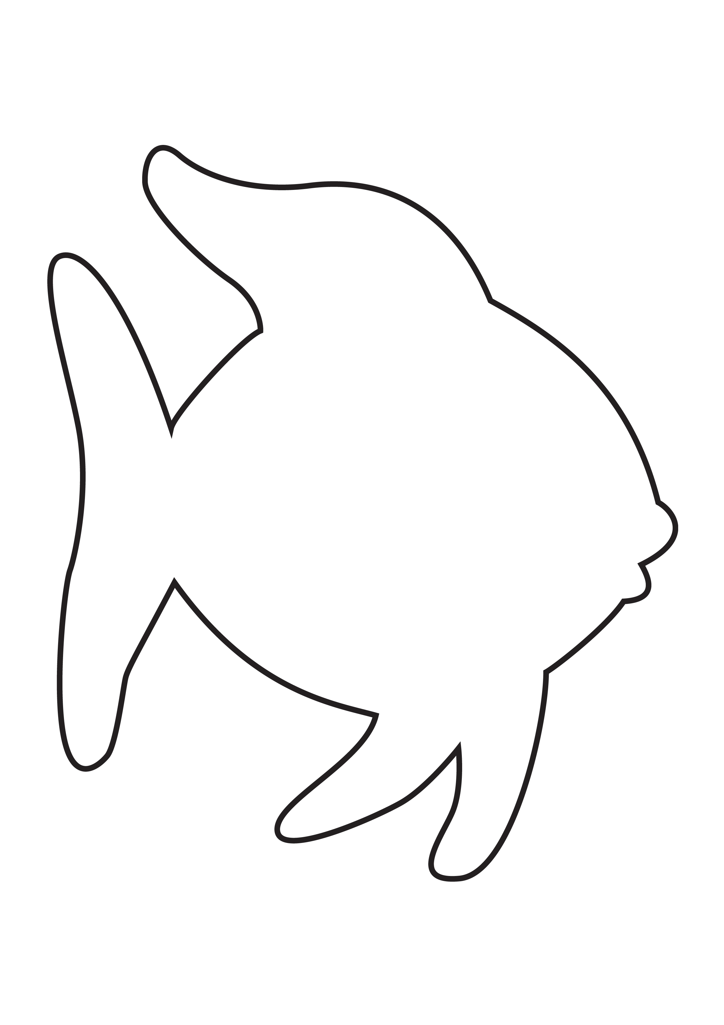 Fish outline clipart clipartfest 2