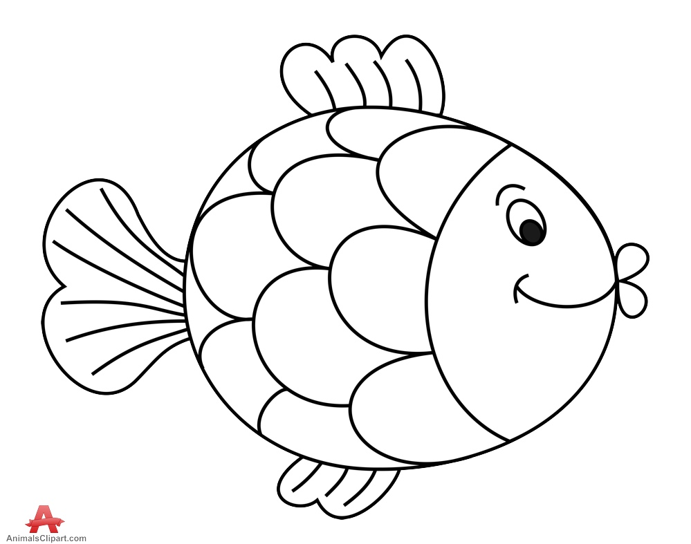 Fish outline comic outline of fish free clipart clipartfest