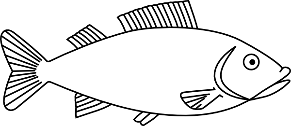 Fish outline easy long fish drawings outline 3 clip art 4 projects