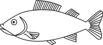 Fish outline outline of fish clipart free download clip art