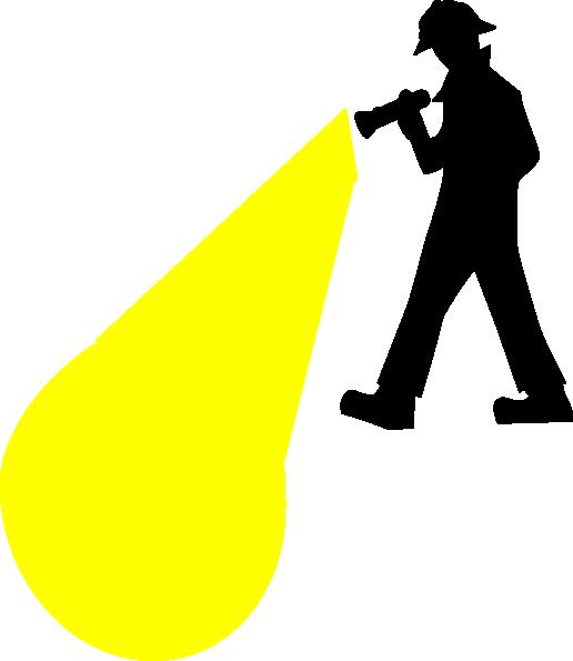 Flashlight clip art at vector clip art