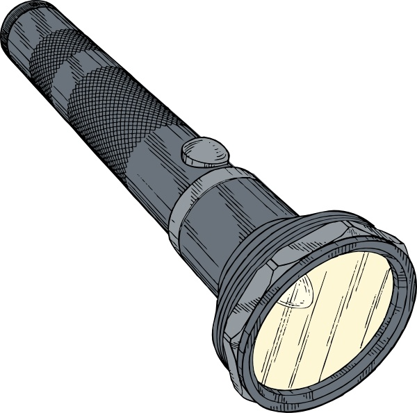 Flashlight clip art free vector in open office drawing svg