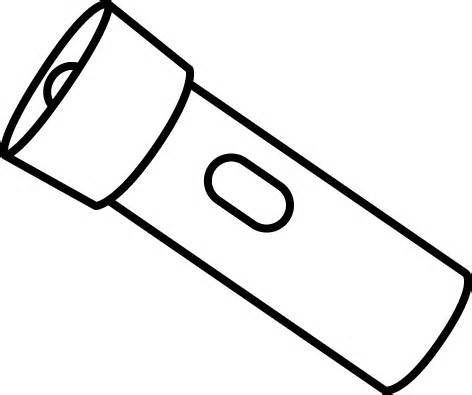 Flashlight clipart black and white black and white flashlight clip