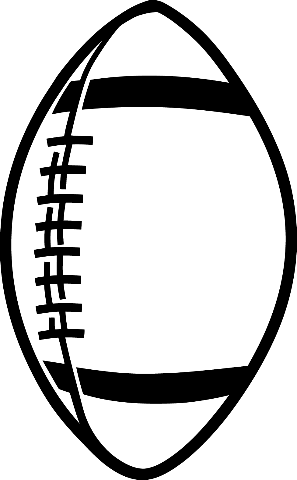 Football laces outline free clipart images 5