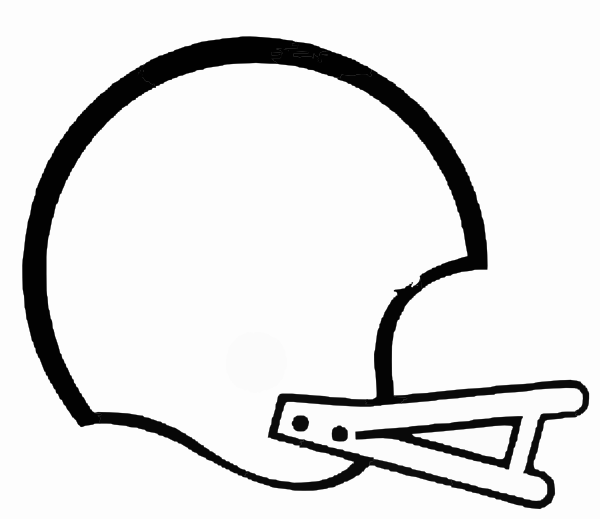 Football outline football laces free clipart images 4