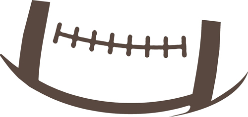 Football outline football laces free clipart images