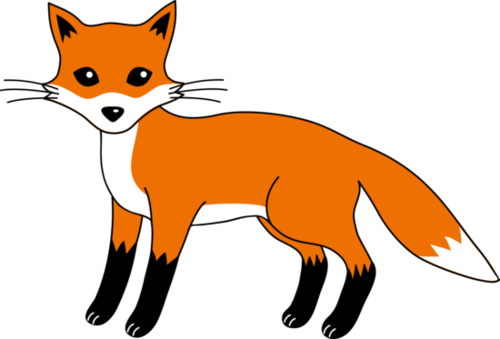 Fox  black and white cute fox black and white clipart 8