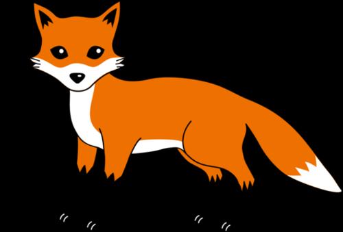Fox  black and white cute fox black and white clipart 8