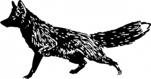 Fox  black and white fox clip art previous next