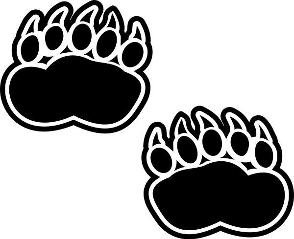 Free bear paw print clipart 1 page of clip art