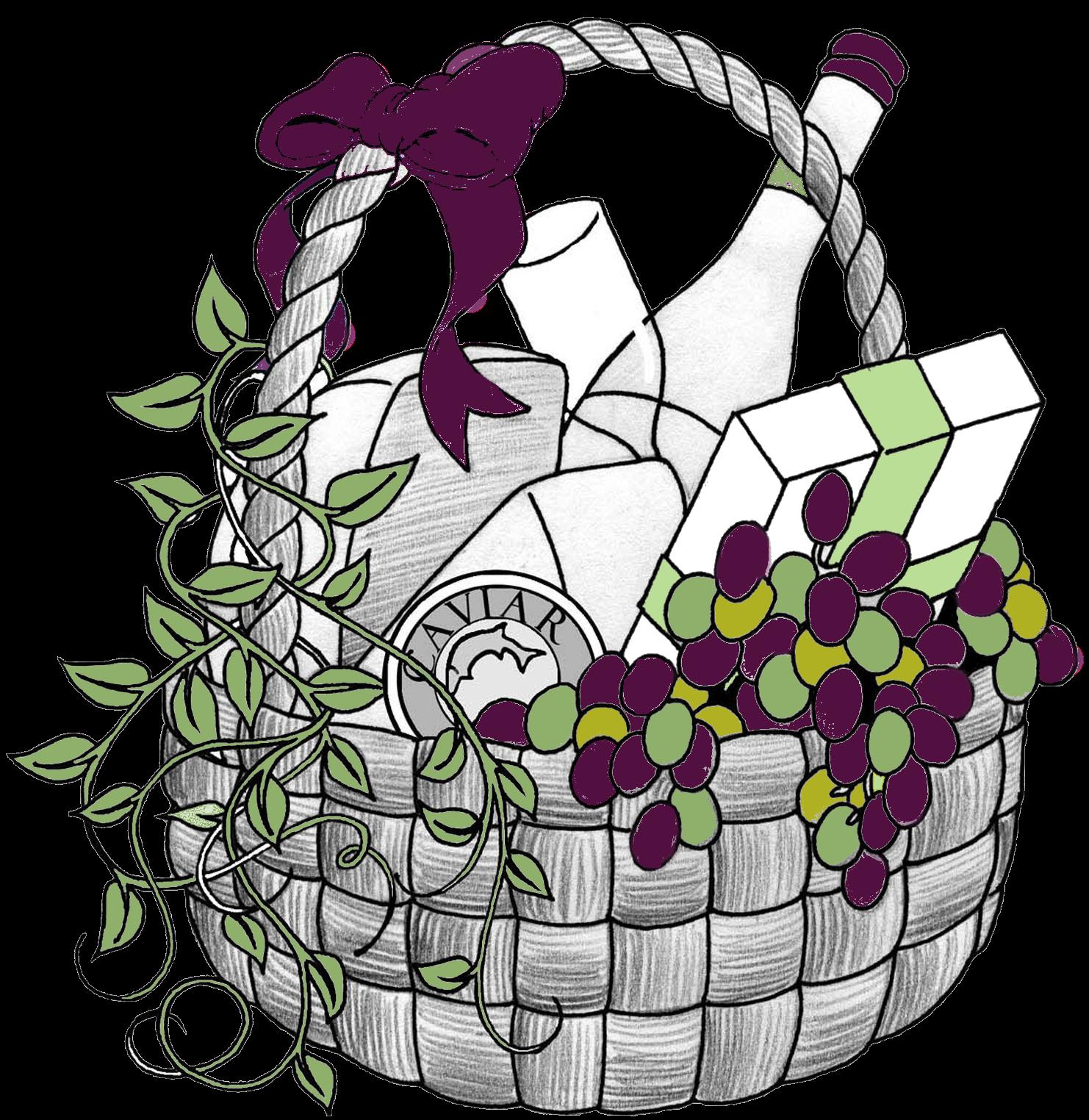 Gift basket t basket clip art